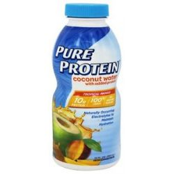 Pure Protein Coconut Water Tropical Mango 12 Oz