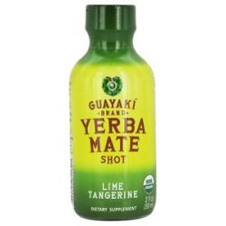 Guayaki Organic Energy Shot Lime Tangerine 2 Oz