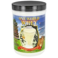 One World Whey Protein Power Food Unflavored and Unsweetened 1 Lb