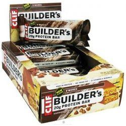 Clif Bar Builder's Protein Crisp Bar s'mores 2 4 Oz