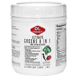 Olympian Labs Ultimate Greens Protein 8 in 1 with Hemp Protein 710013032638
