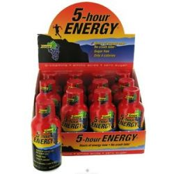 5 Hour Energy Energy Shot Grape Flavor 2 Oz