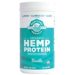 Manitoba Harvest Certified Organic Hemp Protein Vanilla 1 Lb