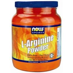 Now Foods L Arginine Powder 100 Pure Free Form 2 2 Lbs