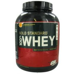 Optimum Nutrition 100 Whey Gold Standard Protein Strawberry Banana 5 Lbs