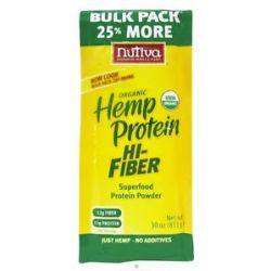 Nutiva Organic Hemp Protein Hi Fiber 30 oz formerly Organic Hemp Protein
