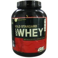 Optimum Nutrition 100 Whey Gold Standard Protein Vanilla Ice Cream 5 Lbs