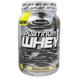 MuscleTech Products Platinum Essential Series 100 Whey Vanilla Cake 2 Lbs