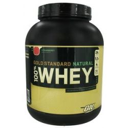 Optimum Nutrition 100 Whey Gold Standard Natural Protein Strawberry 5 Lbs