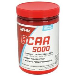 Met RX BCAA 5000 Branched Chain Amino Acid Powder Unflavored 300 Grams
