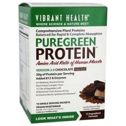 Vibrant Health Pure Green Protein Powder Chocolate 10 Packets 13 25 Oz