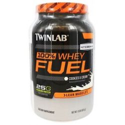 Twinlab 100 Whey Fuel Lean Muscle Cookies Cream 2 Lbs