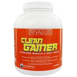 Rivalus Clean Gainer Increases Muscle Body Weight Rich Chocolate 5 Lbs