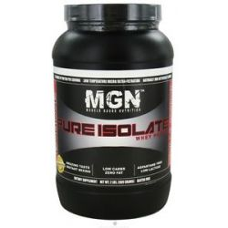 Muscle Gauge Nutrition Pure Isolate Whey Protein Vanilla Caramel 2 Lbs