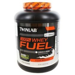 Twinlab 100 Whey Fuel Lean Muscle Cookies Cream 5 Lbs