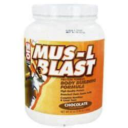 MLO Mus L Blast Protein Powder Body Building Formula Chocolate 47 Oz