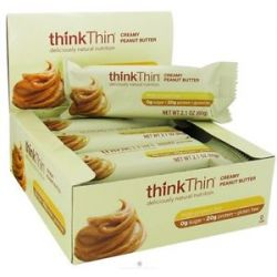 Think Products Thinkthin Protein Bar Creamy Peanut Butter 2 1 Oz