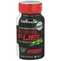 Twinlab Yohimbe Fuel 8 0 Yohimbe Bark Extract 400 MG 50 Capsules