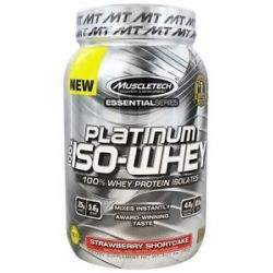 MuscleTech Products Platinum Essential Series 100 ISO Whey Strawberry