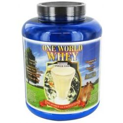 One World Whey Protein Power Food Unflavored and Unsweetened 5 Lb
