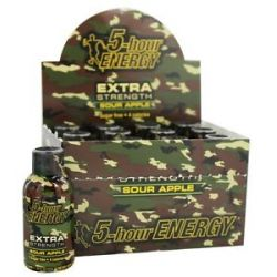 5 Hour Energy Energy Shot Extra Strength Sour Apple Flavor 2 Oz