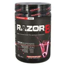 AllMax Nutrition RAZOR8 Blast Powder Highly Concentrated Pre Workout Stimulant 665553201580