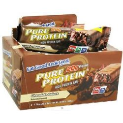 Pure Protein High Protein Bar Chocolate Deluxe 6 x 1 76 oz Bars