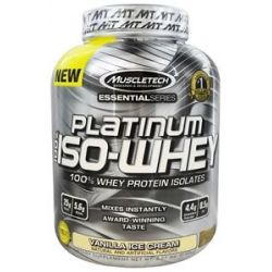 MuscleTech Products Platinum Essential Series 100 ISO Whey Vanilla Ice Cream