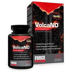 Force Factor Volcano Pre Workout Explosive Nitric Oxide Booster 120 Capsules