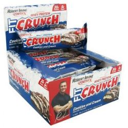 Chef Robert Irvine Fortifx Fit Crunch Protein Bar Cookies and Cream 88 Grams