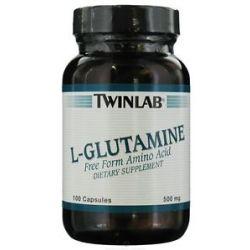 Twinlab L Glutamine Free Form Amino Acid 500 MG 100 Capsules