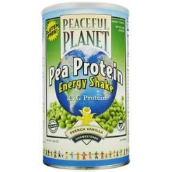 Veglife Peaceful Planet Pea Protein Energy Shake Unsweetened French Vanilla