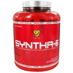 BSN Syntha 6 Sustained Release Protein Powder Strawberry Milkshake 5 04 Lbs