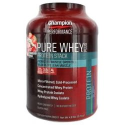 Champion Performance Pure Whey Plus Protein Stack Strawberry Sundae 4 8 Lbs