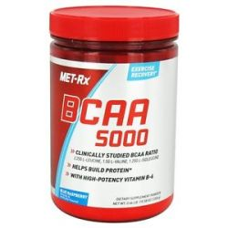 Met RX BCAA 5000 Branched Chain Amino Acid Powder Blue Raspberry 300 Grams