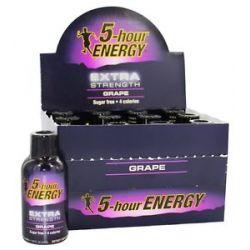 5 Hour Energy Energy Shot Extra Strength Grape Flavor 2 Oz