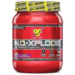BSN N O Xplode Pre Workout Igniter Bonus Size Grape 60 Servings 2 45 Lbs
