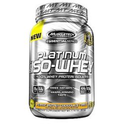 MuscleTech Products Platinum Essential Series 100 ISO Whey Peanut Butter