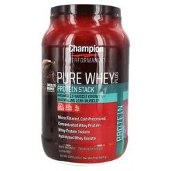 Champion Performance Pure Whey Plus Protein Stack Chocolate Brownie 2 Lbs