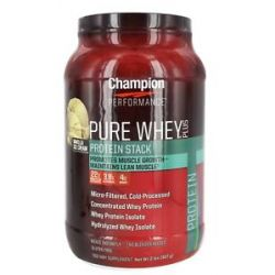 Champion Performance Pure Whey Plus Protein Stack Vanilla Ice Cream 2 Lbs