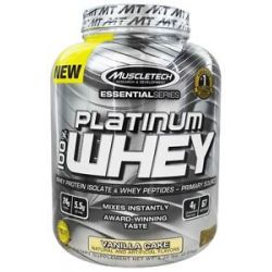 MuscleTech Products Platinum Essential Series 100 Whey Vanilla Cake 5 Lbs