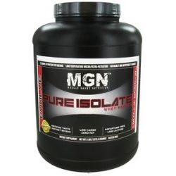 Muscle Gauge Nutrition Pure Isolate Whey Protein Vanilla Caramel 5 Lbs