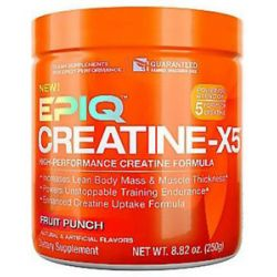 Epiq Creatine x5 High Performance Creatine Formula Fruit Punch 8 82 Oz