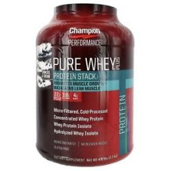 Champion Performance Pure Whey Plus Protein Stack Cookies Cream 4 8 Lbs
