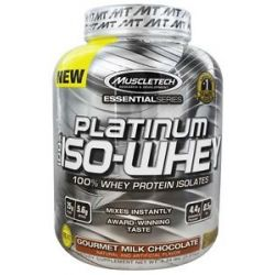 MuscleTech Products Platinum Essential Series 100 ISO Whey Gourmet Milk