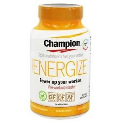 Champion Naturals Energize Pre Workout Booster 60 Vegetarian Capsules