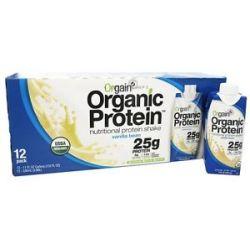 Orgain Organic Ready to Drink High Protein Shake Vanilla Bean 12 Pack