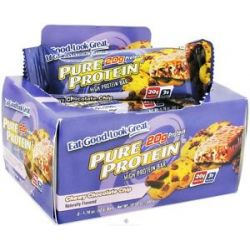 Pure Protein High Protein Bar Chewy Chocolate Chip 6 x 1 76 oz Bars