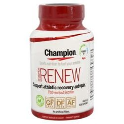 Champion Naturals Renew Post Workout Booster 60 Vegetarian Capsules