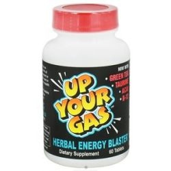 Hot Stuff Nutritionals Up Your Gas Herbal Energy Blaster 60 Tablets 894806007772